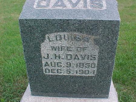 DAVIS, LOUISA - Henry County, Iowa   LOUISA DAVIS