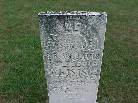 DAVIS, SAMUEL - Henry County, Iowa   SAMUEL DAVIS