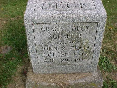 DECK SCHAFFER, GRACE - Henry County, Iowa | GRACE DECK SCHAFFER