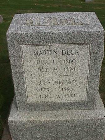 DECK, ELLA - Henry County, Iowa | ELLA DECK