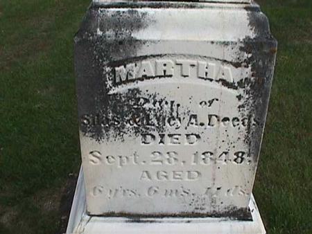 DEEDS, MARTHA - Henry County, Iowa | MARTHA DEEDS