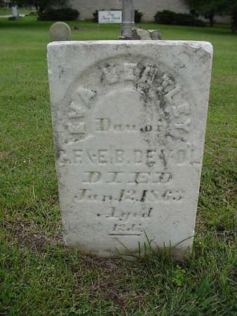 DEVOL, EVA BENTLEY - Henry County, Iowa   EVA BENTLEY DEVOL