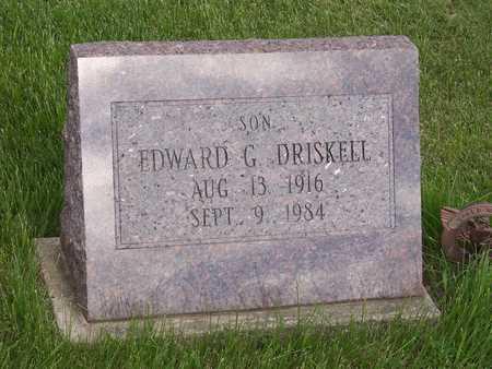 DRISKELL, EDWARD G. - Henry County, Iowa | EDWARD G. DRISKELL