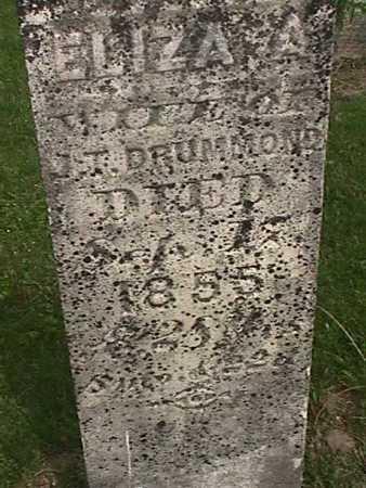 DRUMMOND, ELIZA A - Henry County, Iowa | ELIZA A DRUMMOND