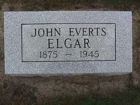 ELGAR, JOHN EVERTS - Henry County, Iowa | JOHN EVERTS ELGAR
