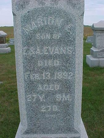 EVANS, MARION - Henry County, Iowa | MARION EVANS