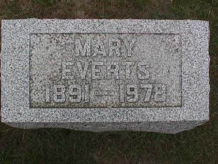 EVERTS, MARY - Henry County, Iowa   MARY EVERTS