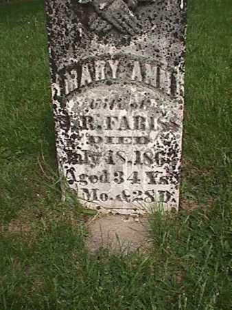 FARISS, MARY ANN - Henry County, Iowa | MARY ANN FARISS