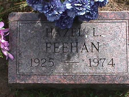 FEEHAN, HAZEL L - Henry County, Iowa   HAZEL L FEEHAN