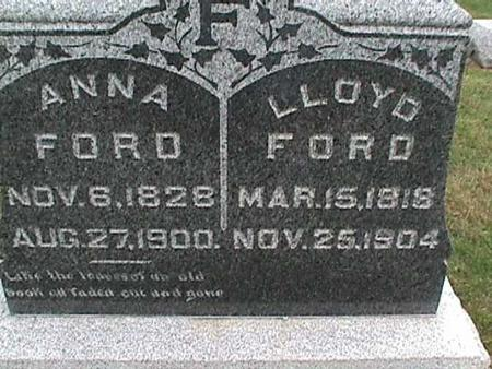 FORD, ANNA - Henry County, Iowa | ANNA FORD