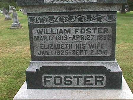 FOSTER, ELIZABETH - Henry County, Iowa | ELIZABETH FOSTER