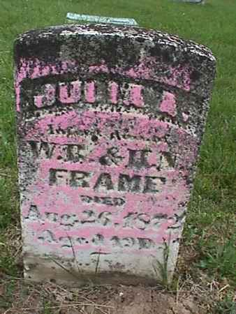 FRAME, JULIA - Henry County, Iowa | JULIA FRAME