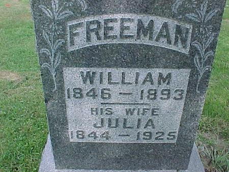 FREEMAN, JULIA - Henry County, Iowa | JULIA FREEMAN