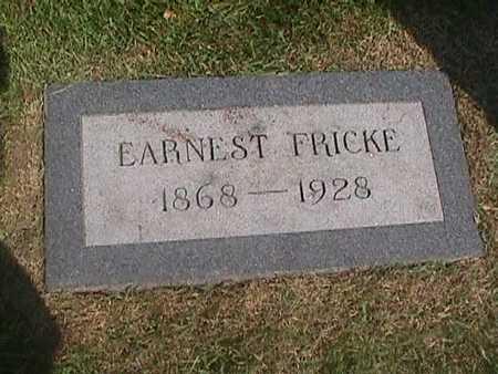 FRICKE, EARNEST - Henry County, Iowa | EARNEST FRICKE