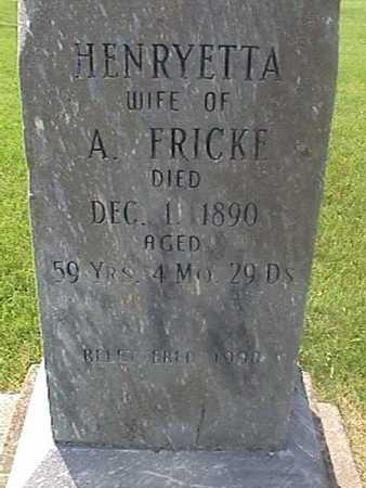 FRICKE, HENRYETTA - Henry County, Iowa | HENRYETTA FRICKE