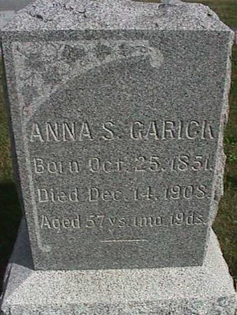 GARICK, ANNA S. - Henry County, Iowa | ANNA S. GARICK