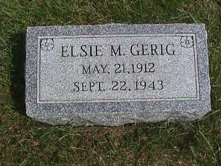 GERIG, ELSIE - Henry County, Iowa | ELSIE GERIG