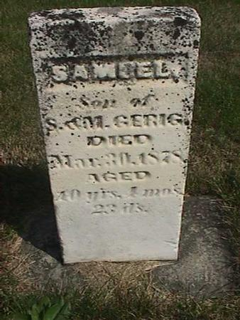GERIG, SAMUEL - Henry County, Iowa | SAMUEL GERIG