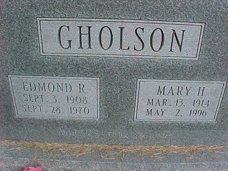 GHOLSON, EDMOND R - Henry County, Iowa | EDMOND R GHOLSON