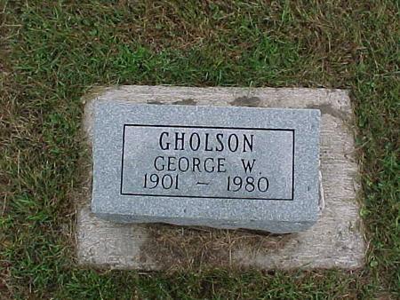 GHOLSON, GEORGE - Henry County, Iowa   GEORGE GHOLSON