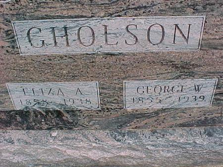 GHOLSON, GEORGE - Henry County, Iowa | GEORGE GHOLSON