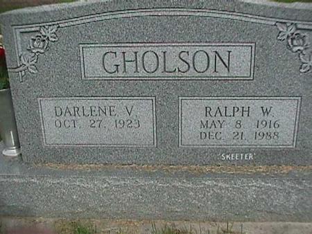 GHOLSON, RALPH W - Henry County, Iowa | RALPH W GHOLSON