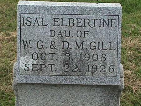 GILL, ISAL ELBERTINE - Henry County, Iowa | ISAL ELBERTINE GILL