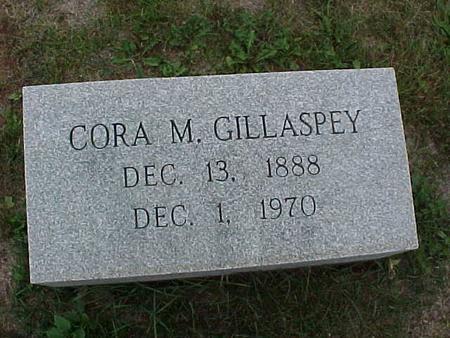 GILLASPEY, CORA - Henry County, Iowa | CORA GILLASPEY