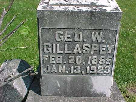 GILLASPEY, GEORGE W. - Henry County, Iowa   GEORGE W. GILLASPEY