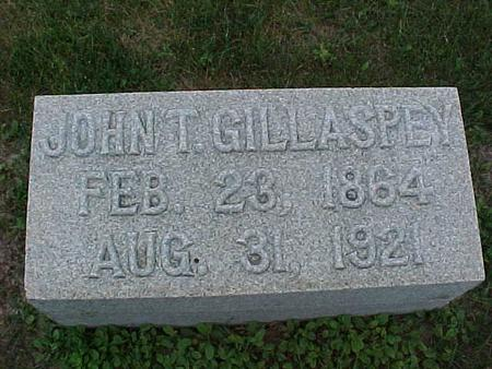 GILLASPEY, JOHN T. - Henry County, Iowa | JOHN T. GILLASPEY