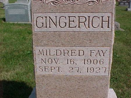 GINGERICH, MILDRED FAY - Henry County, Iowa | MILDRED FAY GINGERICH
