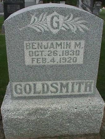 GOLDSMITH, BENJAMIN M - Henry County, Iowa   BENJAMIN M GOLDSMITH