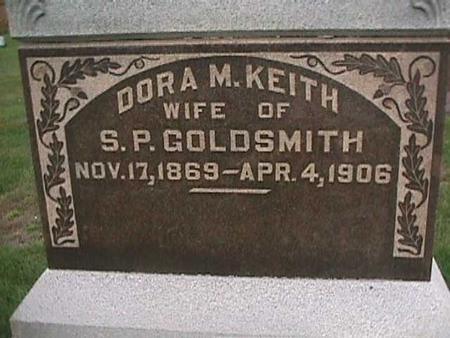 KEITH GOLDSMITH, DORA - Henry County, Iowa | DORA KEITH GOLDSMITH