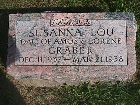 GRABER, SUSANNA LOU - Henry County, Iowa   SUSANNA LOU GRABER