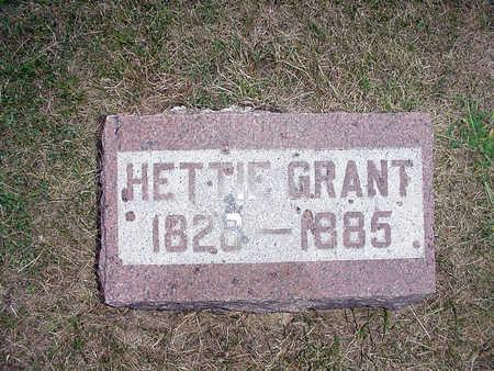 GRANT, HETTIE - Henry County, Iowa   HETTIE GRANT