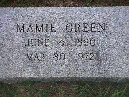 GREEN, MAMIE - Henry County, Iowa | MAMIE GREEN