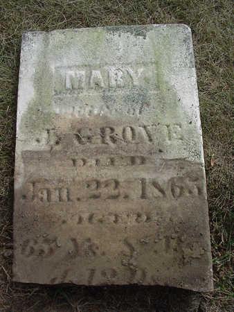 GROVE, MARY - Henry County, Iowa   MARY GROVE