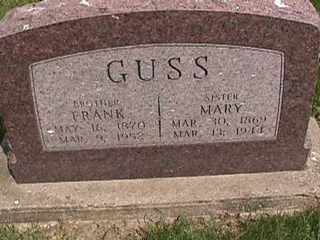 GUSS, MARY - Henry County, Iowa | MARY GUSS