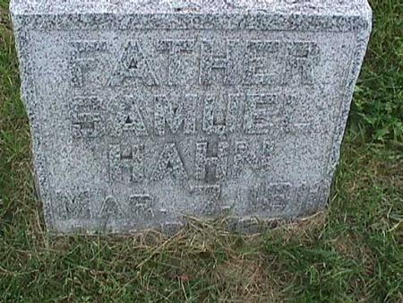 HAHN, SAMUEL - Henry County, Iowa   SAMUEL HAHN
