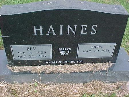 HAINES, BEV - Henry County, Iowa | BEV HAINES