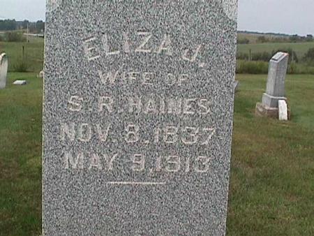 HAINES, ELIZA - Henry County, Iowa | ELIZA HAINES