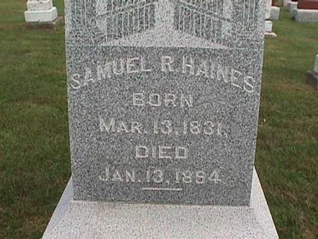 HAINES, SAMUEL - Henry County, Iowa | SAMUEL HAINES