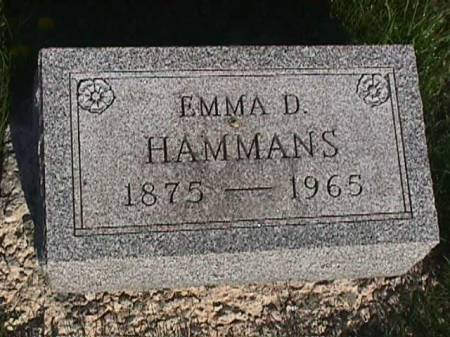 HAMMANS, EMMA D. - Henry County, Iowa   EMMA D. HAMMANS