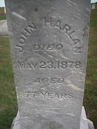 HARLAN, JOHN - Henry County, Iowa | JOHN HARLAN