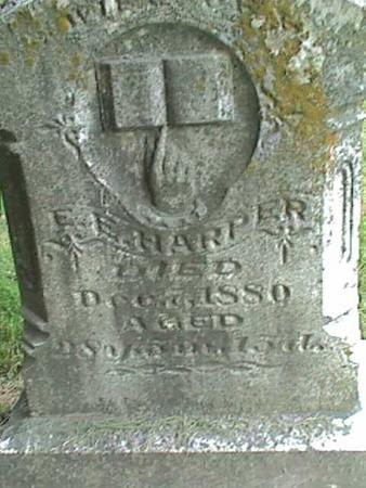 HARPER, SARAH JANE - Henry County, Iowa   SARAH JANE HARPER
