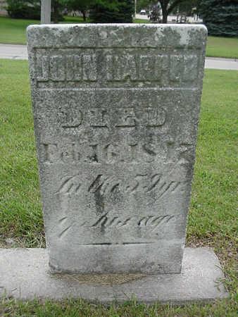 HARPER, JOHN - Henry County, Iowa | JOHN HARPER