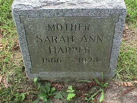 HARPER, SARAH ANN - Henry County, Iowa   SARAH ANN HARPER