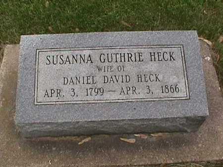 GUTHRIE HECK, SUSANNA - Henry County, Iowa | SUSANNA GUTHRIE HECK