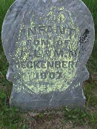 HECKENBERG, INFANT SON - Henry County, Iowa | INFANT SON HECKENBERG