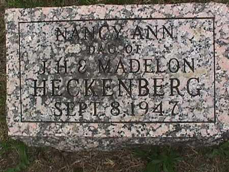 HECKENBERG, NANCY ANN - Henry County, Iowa | NANCY ANN HECKENBERG